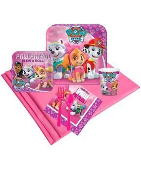 PartyBell.com - Pink Paw Patrol Girl Party Pack (8)