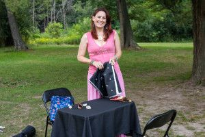 Lovely to read Tarot in the great outdoors! At a staff appreciation/picnic event in Aug 2015