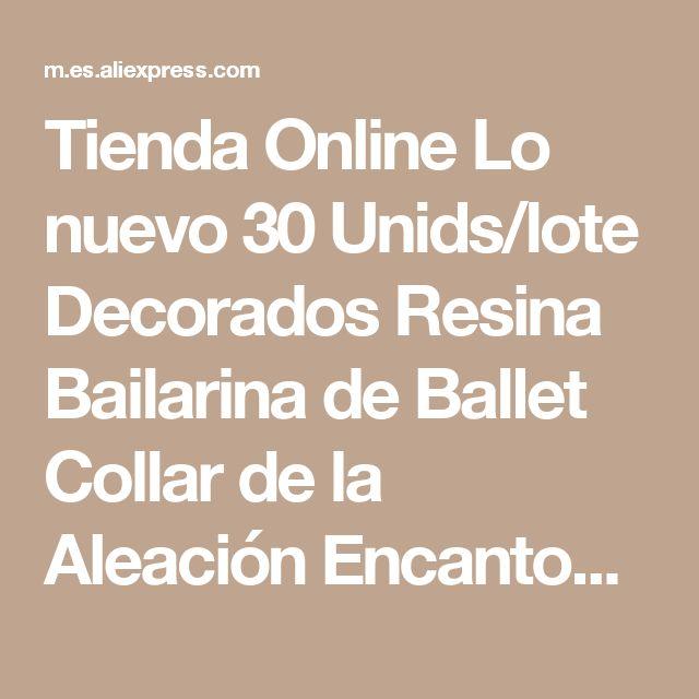 Tienda Online Lo nuevo 30 Unids/lote Decorados Resina Bailarina de Ballet Collar de la Aleación Encantos del Colgante de Metal Dorado Joyería DIY Pulsera Del Encanto | Aliexpress móvil