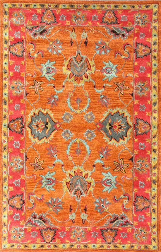 Nuloom Handmade Overdyed Traditional Wool Orange Rug X