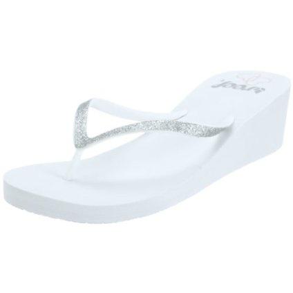 Reef Women`s Krystal Star Wedding Wedge Sandal,Wh Ite,9 M US $28.00