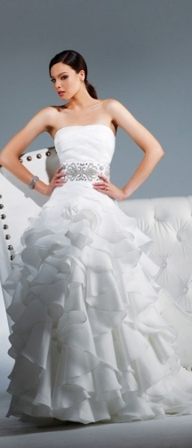 Chelsea by David Tutera by Faviana For the skirt only...I shouldn't love ruffles as much as I do.