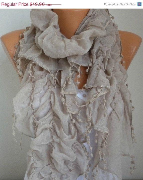 Infinity Scarf   scarf shawl  Sale scarf  Silvery  Free by anils, $17.91