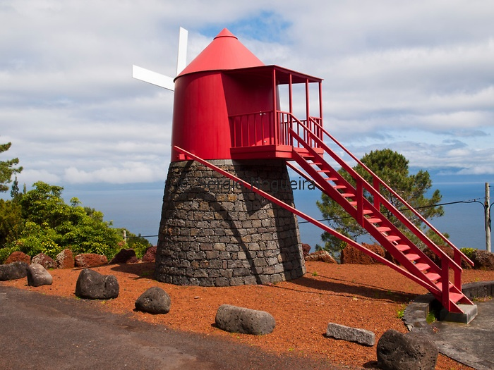 Traditional windmill of Pico island, The Azores