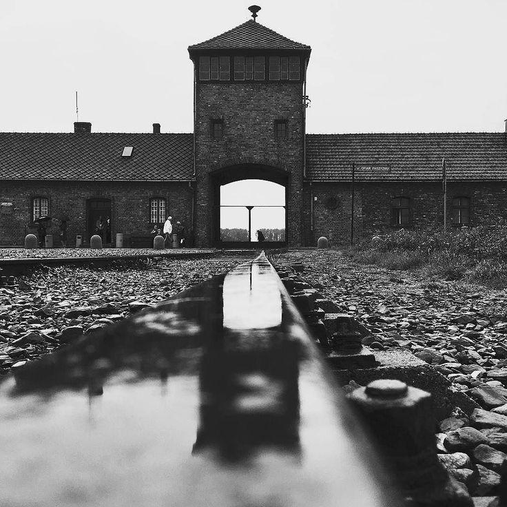 Auschwitz II-Birkenau. The main gate and watchtower of the camp. --- Photo by @alexkoskinen ---
