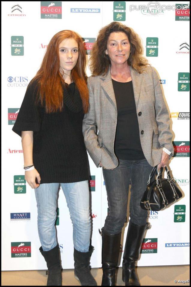 Florence Arthaud et sa fille Marie, décembre 2009