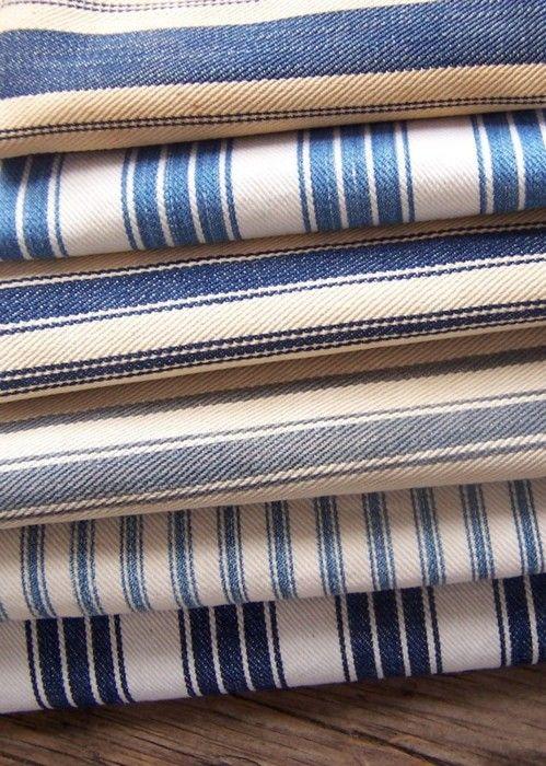 ticking fabric via the primitive home etsy shoppe