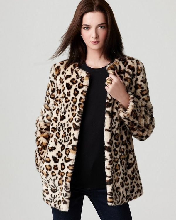 Leopard Faux Fur Coat Outerwear