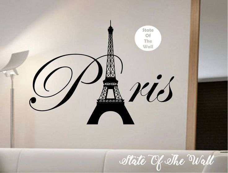 Paris Eiffel Tower Wall Decal Sticker Art Decor Bedroom Design