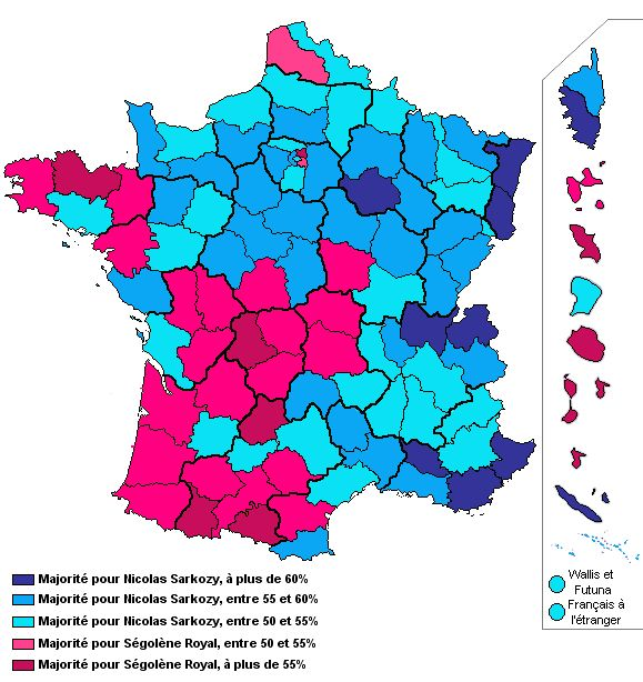 carte de france vote 2 tour