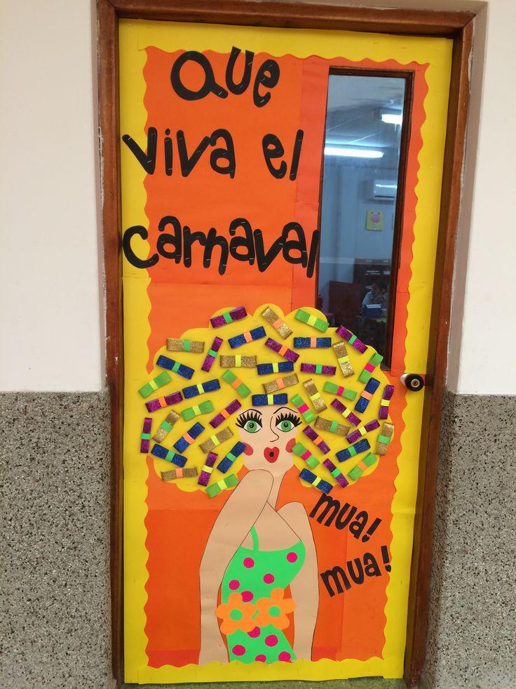 Beautiful maria mo ito classroom door decoration carnaval for Decoracion del hogar barranquilla