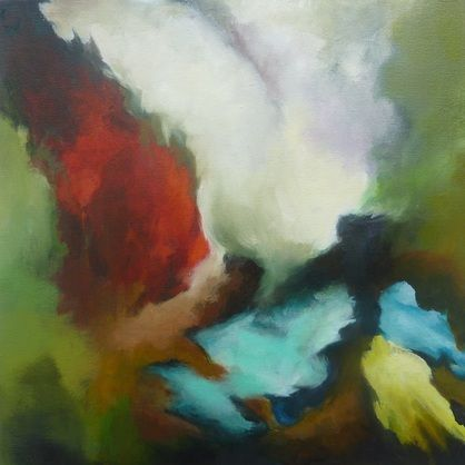 Abstract painting by  Sladjana Adzic 'A single moment in time'