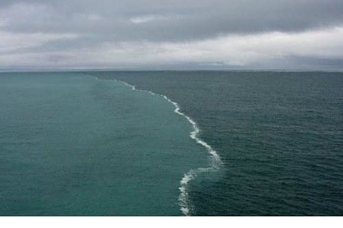 You can observe an amazing natural phenomenon from the resort town of Skaagen, Denmark. Skagen sits at the northernmost point of Denmark where the Baltic and North Seas meet. The two opposing tides can't merge because the density of each sea is so different.