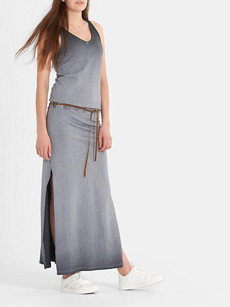 maxi jurk antraciet