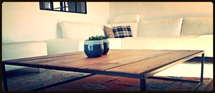 Square Coffee Table, from our Collection Steel N Wood