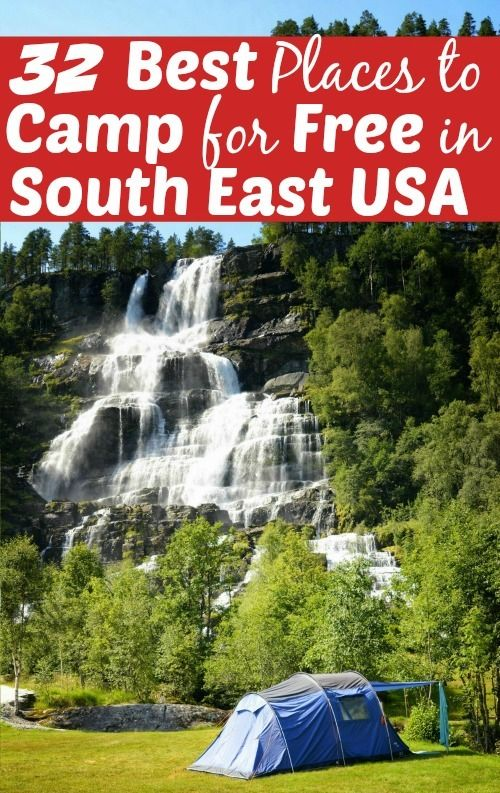 Looking to go camping in the southeast? These 32 campgrounds are some of the bst in the area. I list at least 1 in each state! Everything from free RV hookups to beautiful campsites with no hook ups! See my list and let me know if i missed any!