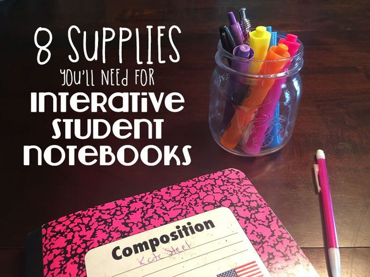 8 supplies you'll need for interactive student notebooks