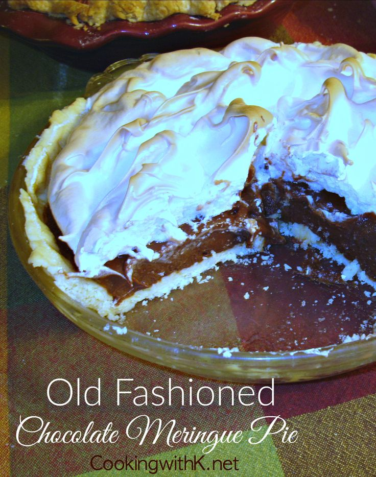 Southern | Cooking with K: Old Fashioned Chocolate Meringue Pie {Granny's Recipe}