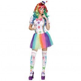 Foute party kleding futuristische clown - PW Hoofs feestwinkel