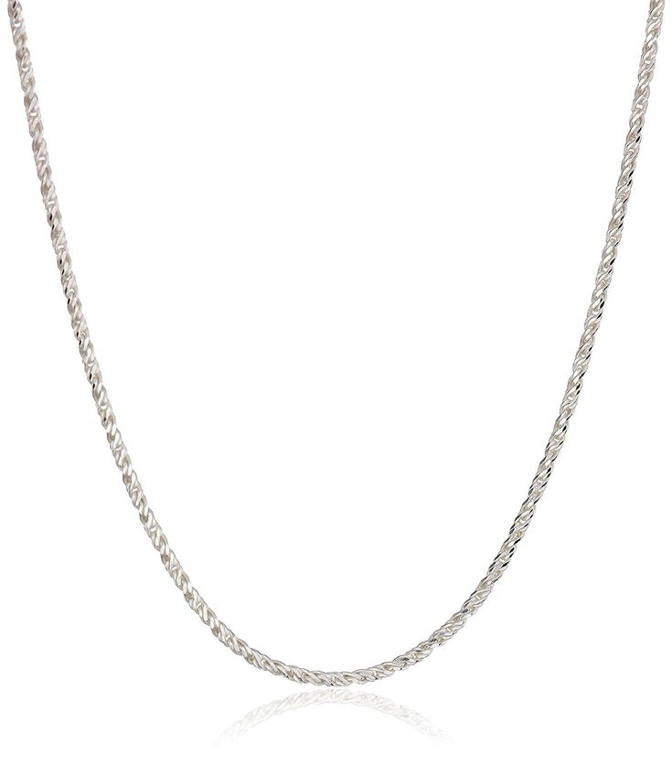 Sterling Silver 1.2mm Sparkle Chain Necklace -- Click on the image for additional details. (This is an Amazon Affiliate link and I receive a commission for the sales)