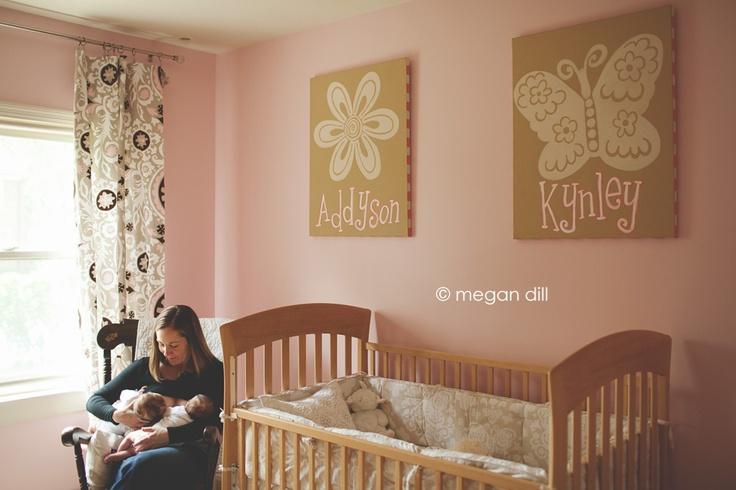 sweet simple nursery for twin girls baby ideas