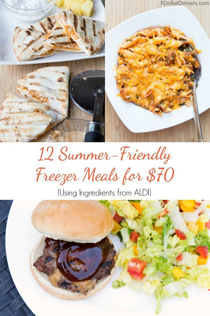 New Meal Plan for Aldi (Or ANY Grocery Store) - 12 Summer Meals for $70!  This is a great meal planning guide to help keep things simple this summer!!!!      happydealhappyday.com