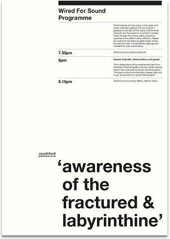 Experimenta / Adam Art Gallery / Wired For Sound / Invitation /...