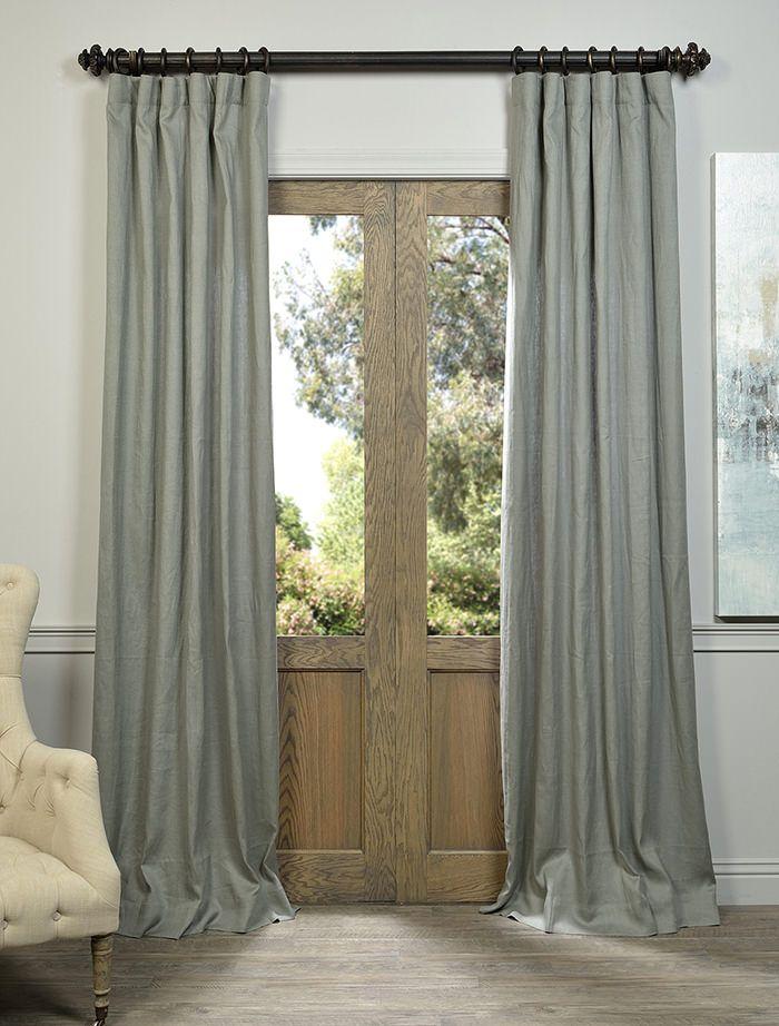 Grey French Linen Curtain - SKU: LN-XS5520 at https://halfpricedrapes.com