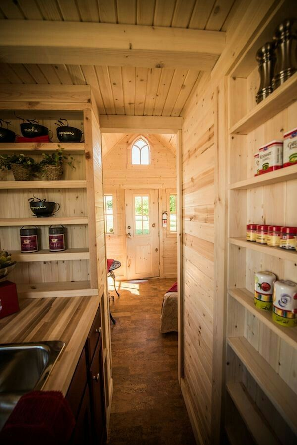 would love the pantry on the sliding bathroom door tumbleweed elm 18 overlook 117 sq ft tiny house on wheels 0018 elm 18 overlook 117 sq tumbleweed tiny - Tumbleweed Tiny House Interior
