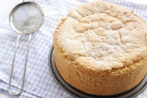 gâteau nuage : 4 œufs 35 gr de cassonade 1 gousse de vanille 35 gr de sucre complet 100 gr de farine 6 gr de levure chimique 10 gr de sucre glace T180 C pendant 25 min