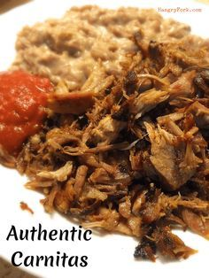Here's a fantastic authentic carnitas recipe, this recipe makes the best carnitas ever!   The meat is so flavorful and leftovers warm up great.