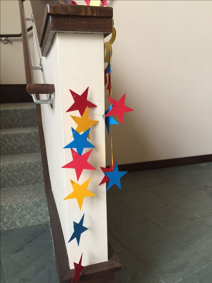 This is where that star cutter comes in handy! Pre-cut stars. Run them through fishing line to create a star chain or garland! Add them to any area to create that powerful look and feel for Hero Central! cokesburyvbs.com