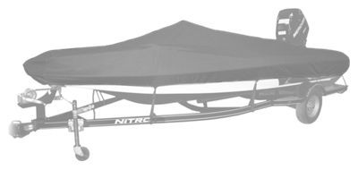 Bass Pro Shops Select Fit Hurricane Boat Covers for Pro Bass Boats with Outboard - Gray - 17'6'' to 18'5''