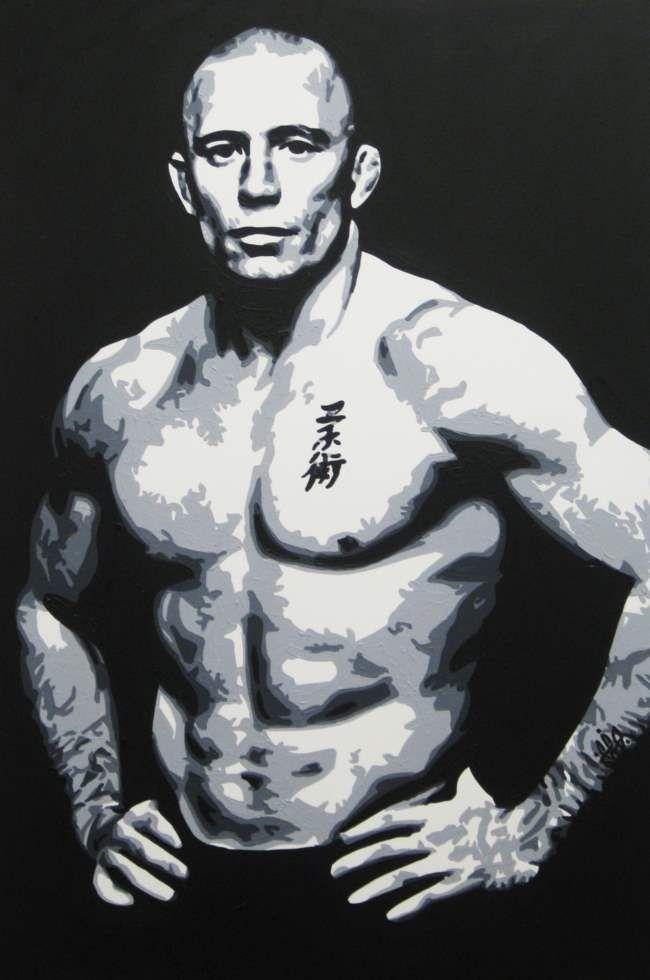 MR ST PIERRE - Knockout Art Prints.