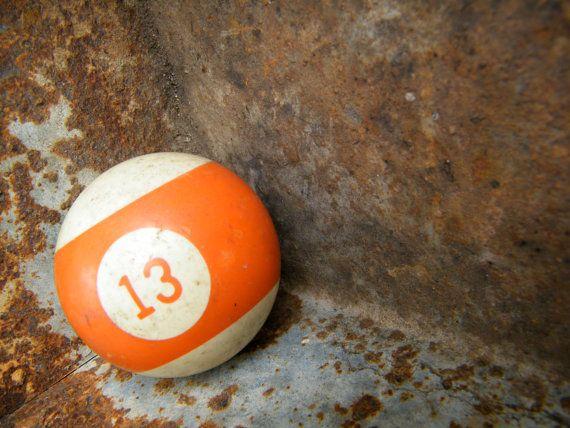 Pool Balls / Billiard Balls / Lucky Thirteen by assemblage333