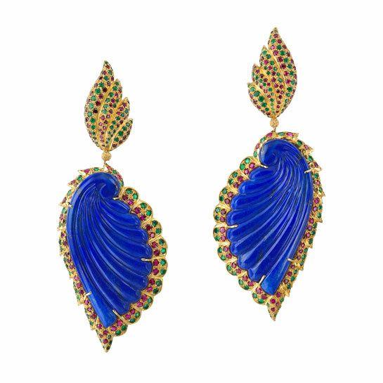 Buccellati boucles d'oreilles lapis lazuli