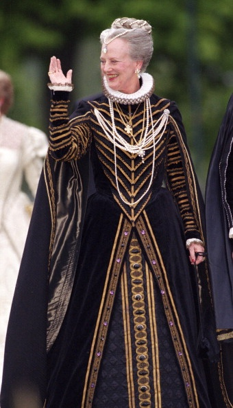 Queen Margrethe (Denmark) rockin the Ren look.