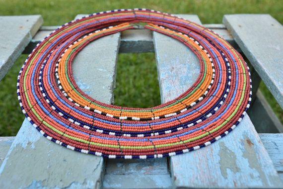 Statement Masai Handmade Beaded Necklace / Collar