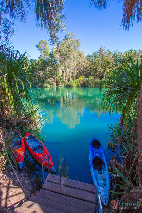 Boodjamulla National Park - Queensland, Australia- Wow look at the colour of that water :)
