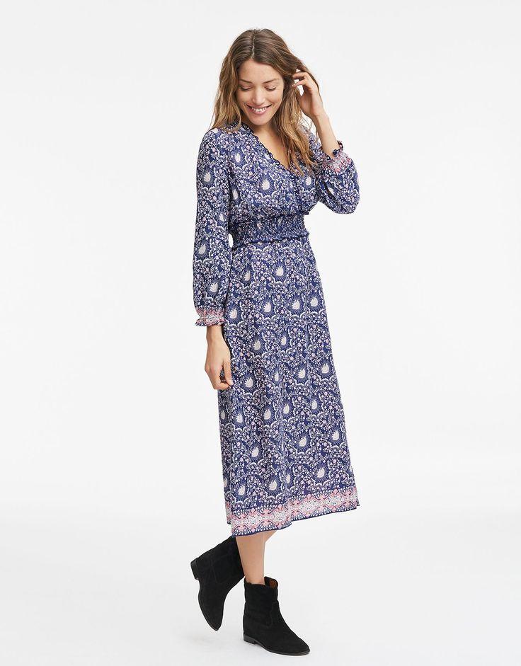 CARA klänning blå