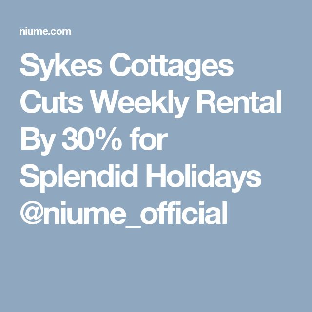 23 best ident images on pinterest graphics brand identity design sykes cottages cuts weekly rental by 30 for splendid holidays fandeluxe Images