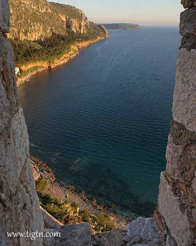 View of #Arvanitia beach from the walls of #Akronafplia Castle in #Nafplio - #Greece