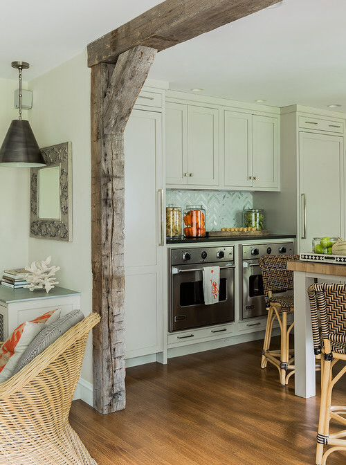 I Would like to do this in my living room into my kitchen Wood support beams.