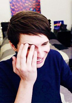 Reacting to his old videos--I swear him and Phil are the most attractive human beings... ever