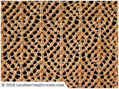 Lace knitting No.28 | Diamond Mesh - Reversible stitch