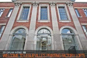 New Listing - 201 Carlaw Ave., #109 Toronto (South Riverdale)  #homesinleslieville