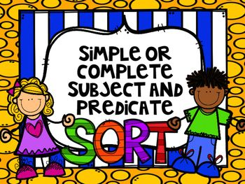 Do your students need extra practice on simple or complete subjects and predicates? This is a great center, table work, or small group activity. There are 2 different ways to use this as a sort, 20 task cards and an answer key. Students will decide if the subject or predicate is underlined, and then decided if its simple or complete.