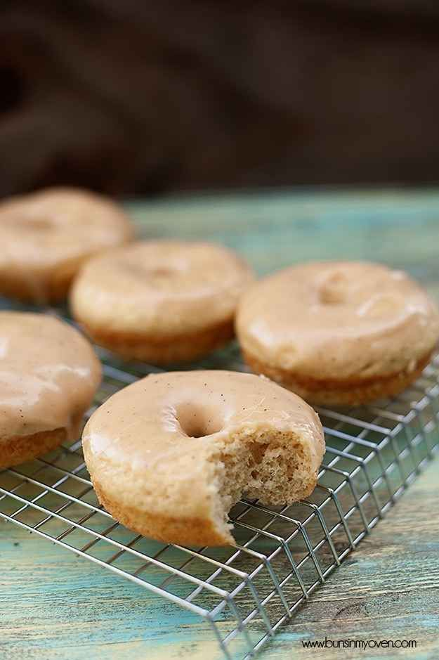 Browned Butter Glazed Cinnamon Donuts