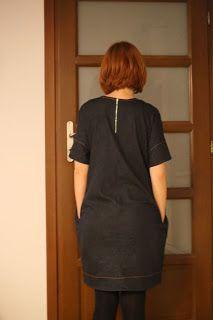 burda 10/2014 127 sukienka dress ovesize