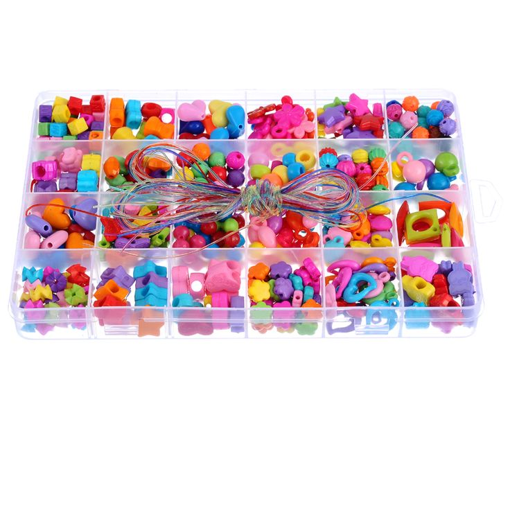 1 Box Смешанная Случайная Акриловые Бусины Дети DIY Kit Шарики Шарики Прокладки Fit Изготовление Ювелирных Изделий Браслет Ожерелье Accesssory 19x13 см купить на AliExpress